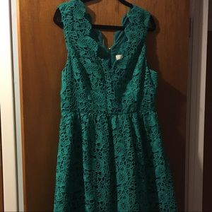 NWOT Green Lace Dress